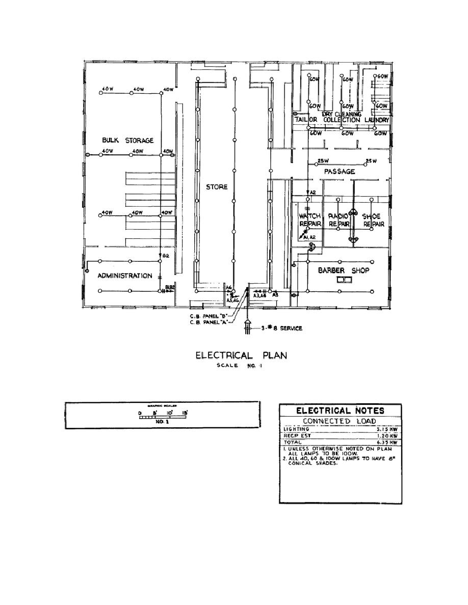 typical electrical plan