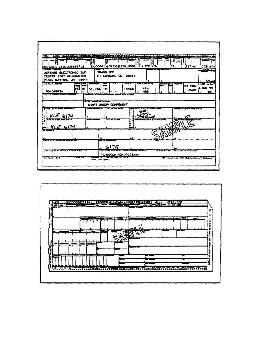 Figure 39. DD Form 1348-1 Used as Shipping Document